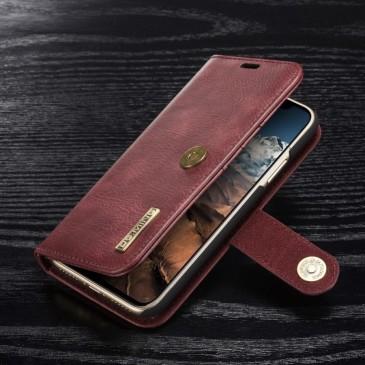 Apple iPhone X Lompakkokotelo DG.MING Punainen