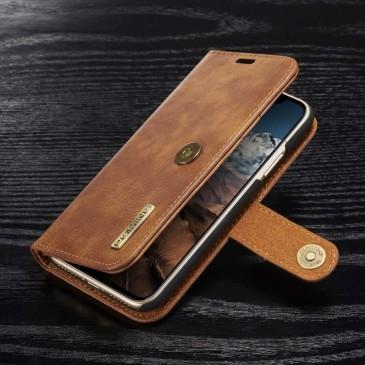 Apple iPhone X Lompakkokotelo DG.MING Ruskea