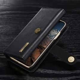 Apple iPhone X Nahkakotelo DG.MING Lompakko Musta
