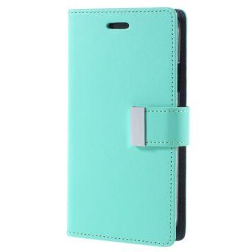 Apple iPhone X Rich Diary Lompakkokotelo Turkoosi