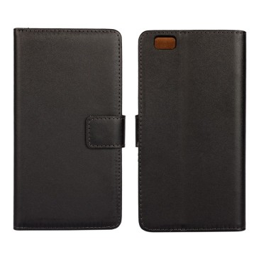 Huawei P8 Lite Musta Nahka Lompakkokotelo