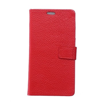 Nokia 6 Nahkainen Lompakkokotelo Punainen