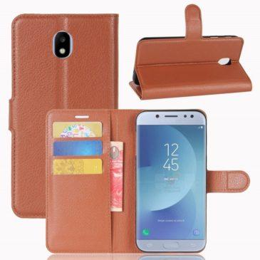 Samsung Galaxy J3 (2017) Lompakkokotelo Ruskea