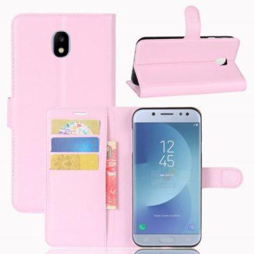 Samsung Galaxy J3 (2017) Lompakkokotelo Vaaleanpunainen