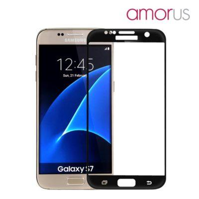 Samsung Galaxy S7 Täysin Peittävä Suojalasi Musta Amorus