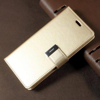 Samsung Galaxy S8 Kulta Rich Diary Lompakkokotelo