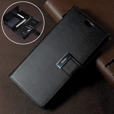 Samsung Galaxy S8 Musta Rich Diary Lompakkokotelo
