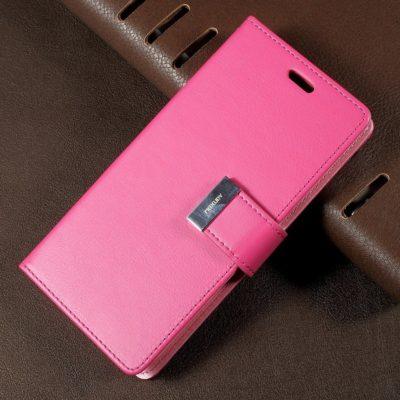 Samsung Galaxy S8 Pinkki Rich Diary Lompakkokotelo