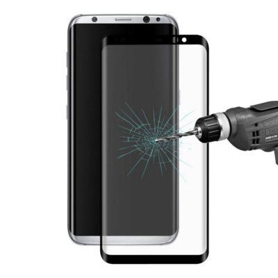 Samsung Galaxy S8+ Kaareutuva Suojalasi Musta