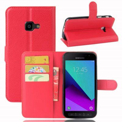 Samsung Galaxy Xcover 4 / 4s Lompakkokotelo Punainen