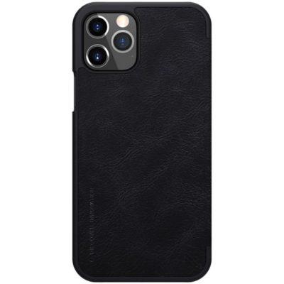 Apple iPhone 12 / 12 Pro Kotelo Nillkin Qin Musta
