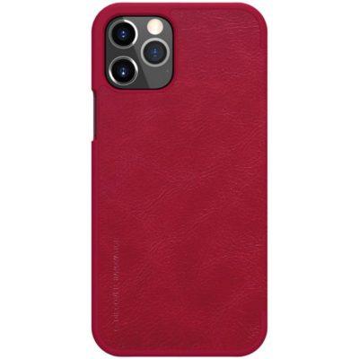 Apple iPhone 12 / 12 Pro Kotelo Nillkin Qin Punainen