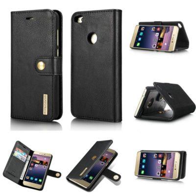 Huawei Honor 8 Lite Nahkakotelo DG.MING Musta