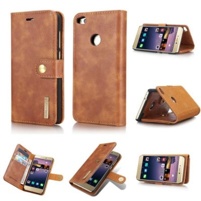 Huawei Honor 8 Lite Nahkakotelo DG.MING Ruskea