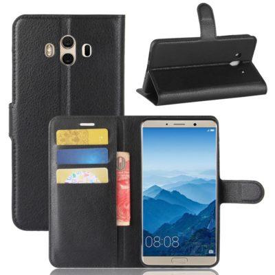 Huawei Mate 10 Lompakkokotelo Musta