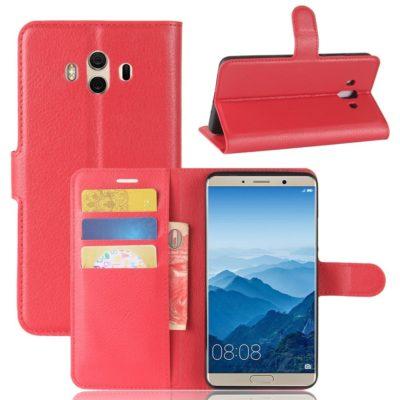 Huawei Mate 10 Lompakkokotelo Punainen
