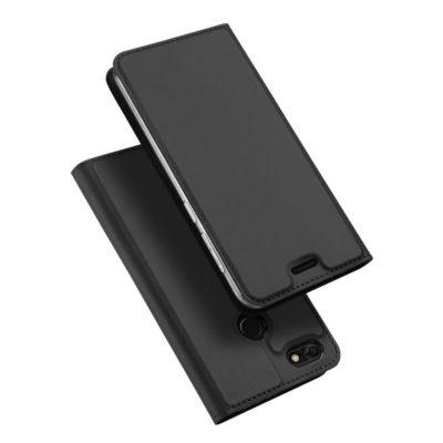 Huawei P9 Lite Mini Kotelo Dux Ducis Tummanharmaa