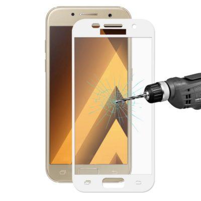 Samsung Galaxy A5 (2017) Koko Näytön Peittävä Suojalasi Valkoinen