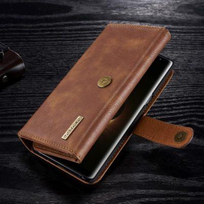 Samsung Galaxy Note 8 Nahkakotelo DG.MING Ruskea