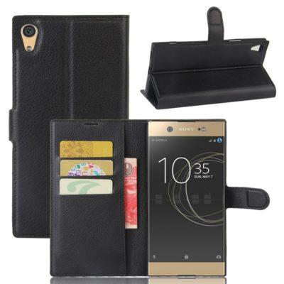 Sony Xperia XA1 Ultra Lompakkokotelo Musta
