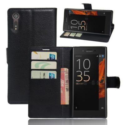 Sony Xperia XZ Lompakkokotelo Musta