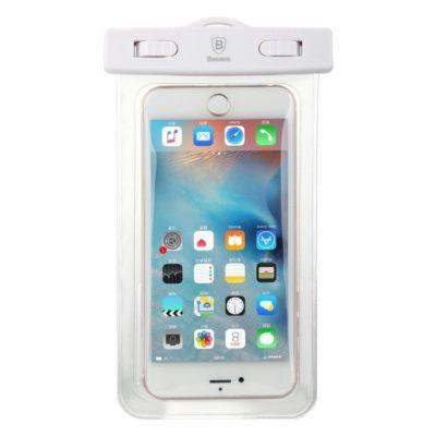 Vedenkestävä Pussi Puhelimelle 5.5″ Baseus Valkoinen