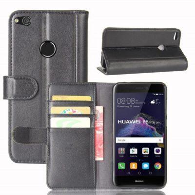 Huawei Honor 8 Lite Nahkakotelo Musta Lompakko