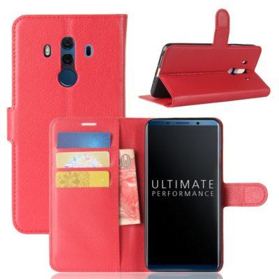 Huawei Mate 10 Pro Lompakkokotelo Punainen