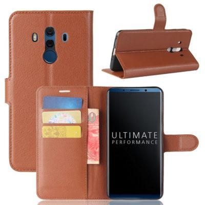 Huawei Mate 10 Pro Lompakkokotelo Ruskea