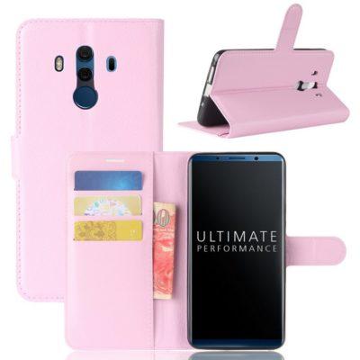 Huawei Mate 10 Pro Lompakkokotelo Vaaleanpunainen