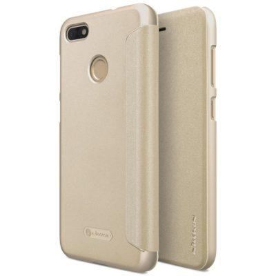 Huawei P9 Lite Mini Kotelo Nillkin Sparkle Kulta