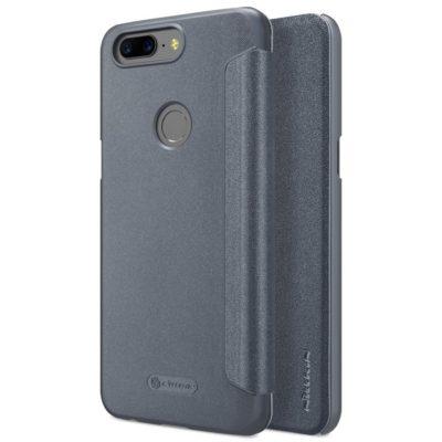 OnePlus 5T Kotelo Nillkin Sparkle Musta