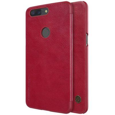 OnePlus 5T Suojakotelo Nillkin Qin Punainen