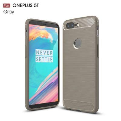 OnePlus 5T Suojakuori Hiilikuitu Harmaa