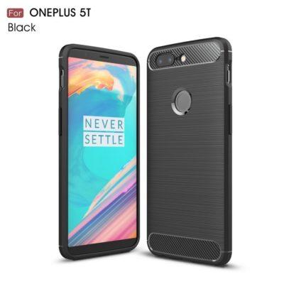 OnePlus 5T Suojakuori Hiilikuitu Musta