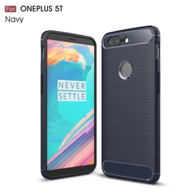 OnePlus 5T Suojakuori Hiilikuitu Tummansininen