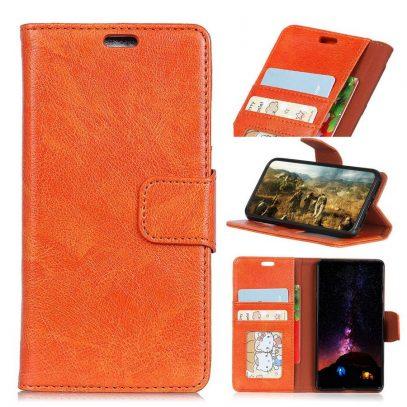 Sony Xperia XA1 Plus Lompakkokotelo Oranssi Nahka
