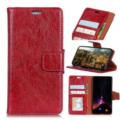 Sony Xperia XA1 Plus Lompakkokotelo Punainen Nahka