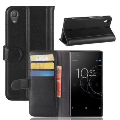Sony Xperia XA1 Plus Nahkakotelo Musta