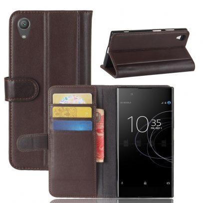 Sony Xperia XA1 Plus Nahkakotelo Ruskea