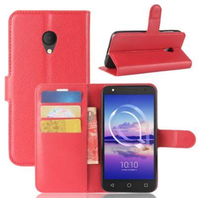 Alcatel U5 HD Suojakotelo Punainen Lompakko