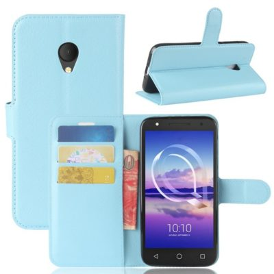 Alcatel U5 HD Suojakotelo Sininen Lompakko