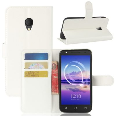 Alcatel U5 HD Suojakotelo Valkoinen Lompakko