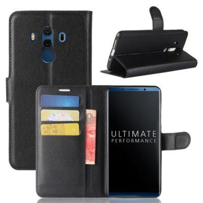 Huawei Mate 10 Pro Lompakkokotelo Musta