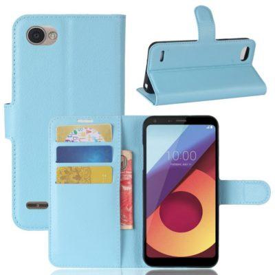 LG Q6 Lompakkokotelo PU-Nahka Sininen