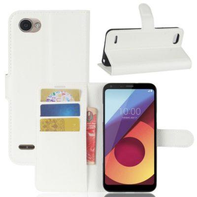 LG Q6 Lompakkokotelo PU-Nahka Valkoinen