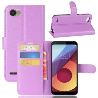 LG Q6 Lompakkokotelo PU-Nahka Violetti