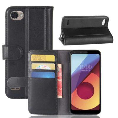 LG Q6 Nahkakotelo Musta Lompakko