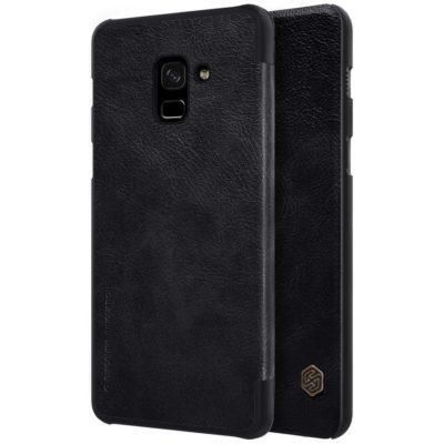 Samsung Galaxy A8 (2018) Kotelo Nillkin Qin Musta