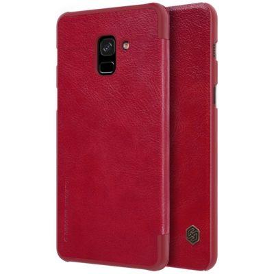 Samsung Galaxy A8 (2018) Kotelo Nillkin Qin Punainen